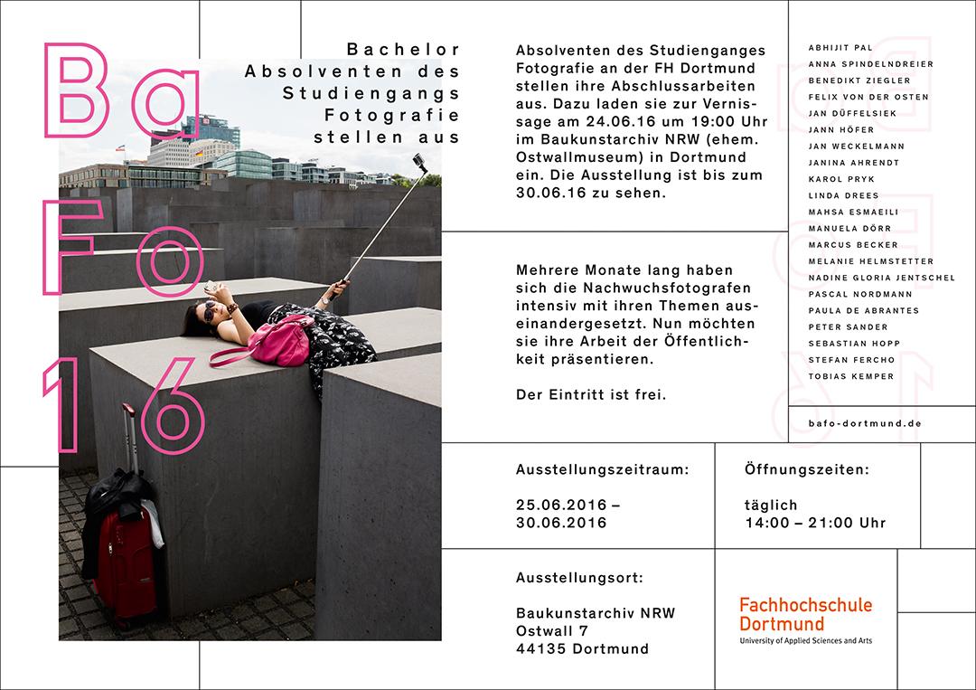 BaFo16 Fotografie Ausstellung in Dortmund